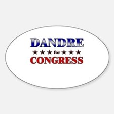 DANDRE for congress Oval Decal