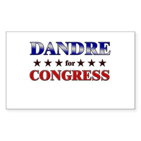 DANDRE for congress Rectangle Sticker