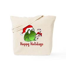 Frog Santa Tote Bag
