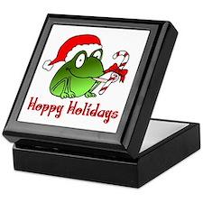 Frog Santa Keepsake Box