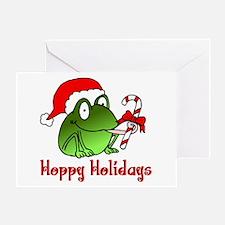 Frog Santa Greeting Card