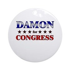 DAMON for congress Ornament (Round)