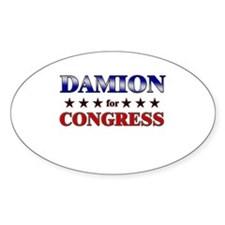 DAMION for congress Oval Decal