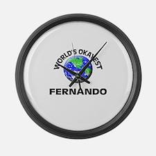 World's Okayest Fernando Large Wall Clock