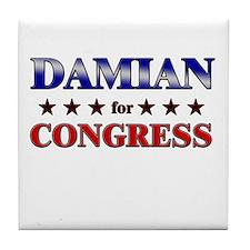 DAMIAN for congress Tile Coaster