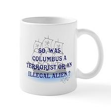 Columbus Question T-Shirts an Small Mug