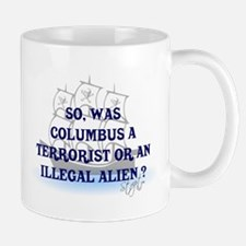 Columbus Question T-Shirts an Small Small Mug