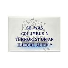 Columbus Question T-Shirts an Rectangle Magnet