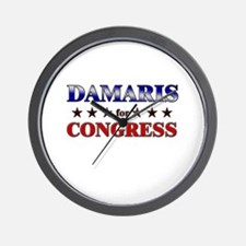 DAMARIS for congress Wall Clock