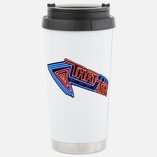 Bonnaroo That Tent Neon Stainless Steel Travel Mug