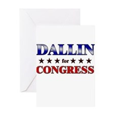 DALLIN for congress Greeting Card