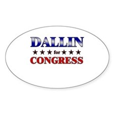 DALLIN for congress Oval Decal