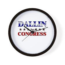 DALLIN for congress Wall Clock