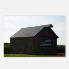Patriotic Barn on Route 66 Postcards (Package of 8