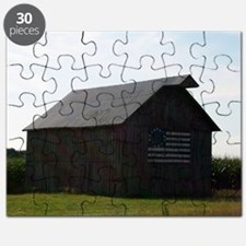 Patriotic Barn on Route 66 Puzzle