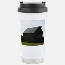 Patriotic Barn on Route 66 Travel Mug