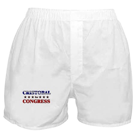 CRISTOBAL for congress Boxer Shorts