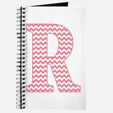 Pink Chevron Letter R Monogram Journal
