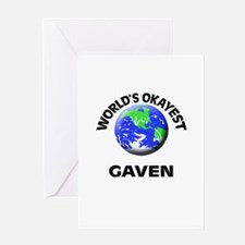 World's Okayest Gaven Greeting Cards