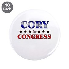"""CORY for congress 3.5"""" Button (10 pack)"""