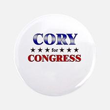 "CORY for congress 3.5"" Button"
