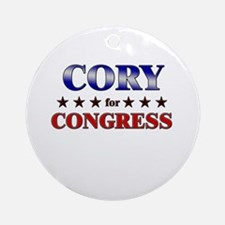 CORY for congress Ornament (Round)