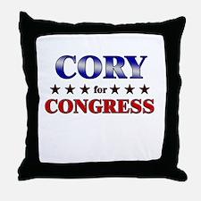 CORY for congress Throw Pillow