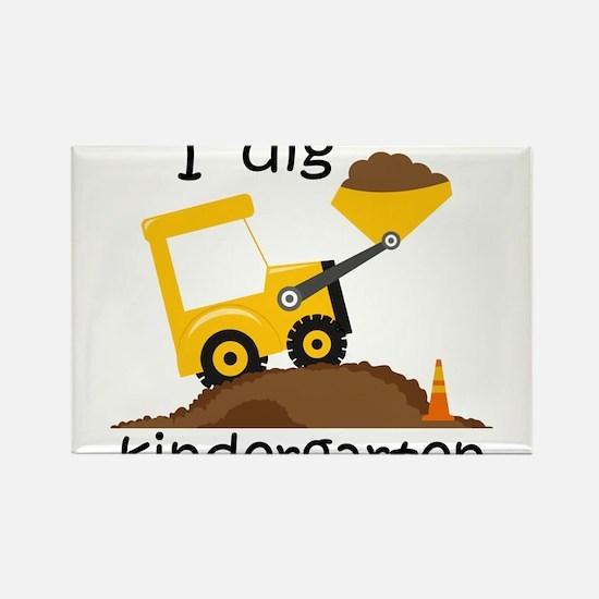 I Dig Kindergarten Magnets