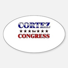 CORTEZ for congress Oval Decal