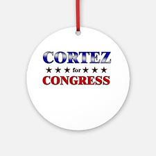 CORTEZ for congress Ornament (Round)