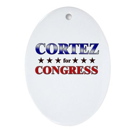 CORTEZ for congress Oval Ornament
