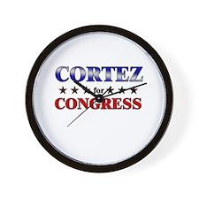 CORTEZ for congress Wall Clock