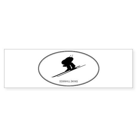 Downhill Skiing (euro-white) Bumper Sticker