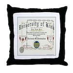 University of Kink Throw Pillow