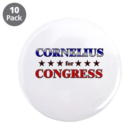 "CORNELIUS for congress 3.5"" Button (10 pack)"
