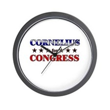 CORNELIUS for congress Wall Clock