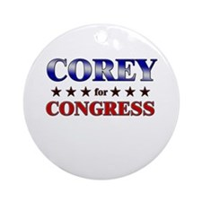 COREY for congress Ornament (Round)