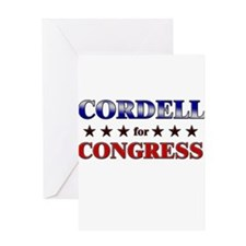 CORDELL for congress Greeting Card