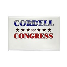 CORDELL for congress Rectangle Magnet