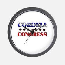 CORDELL for congress Wall Clock