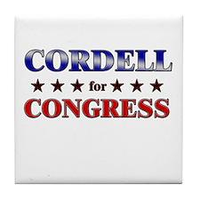 CORDELL for congress Tile Coaster