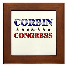 CORBIN for congress Framed Tile