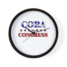 CORA for congress Wall Clock