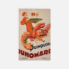 Vintage Lobster, Waiter, Beverage Poster Area Rug