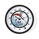 Herobear and the Kid FLYIN' Wall Clock