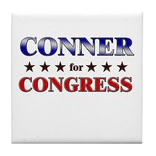 CONNER for congress Tile Coaster