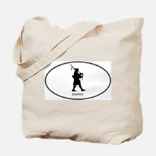 Bagpipes (euro-white) Tote Bag