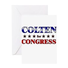 COLTEN for congress Greeting Card