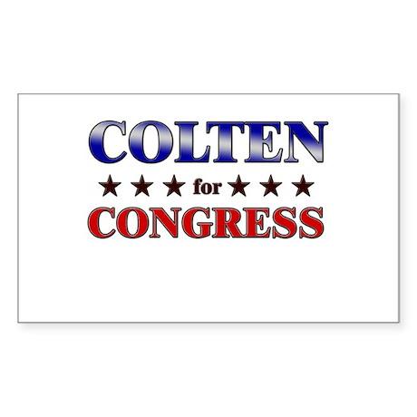 COLTEN for congress Rectangle Sticker