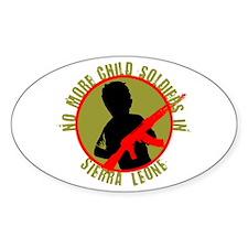 Sierra Leonan Child Soldier Oval Decal